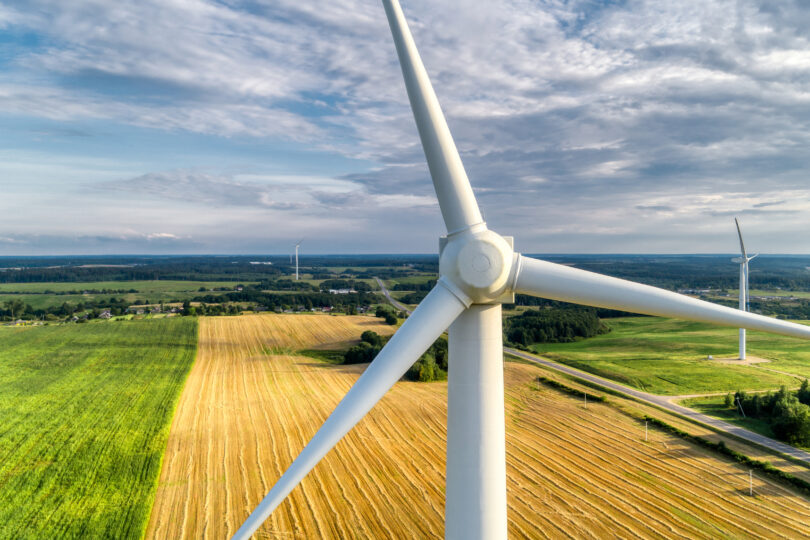 Wind power station, green energy